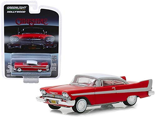 New DIECAST Toys CAR Greenlight 1:64 Hollywood Series 23 - Christine - 1958 Plymouth Fury (RED/White ROOF) 44830-C from New Greenlight