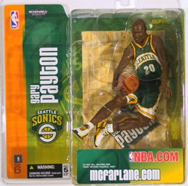 McFarlane's SportsPicks NBA Series #6: Gary Payton in White LA Lakers Uniform by McFarlane
