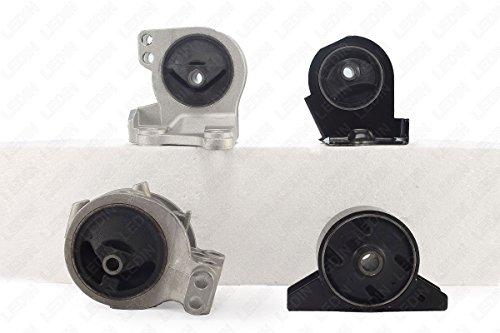 4 Piece Transmission (LEDIN OEM Replacement Engine Motor Transmission Mount SET (4 pieces) for Mitsubishi Galant Eclipse Dodge Stratus Chrysler Sebring 2.4L Coupe)