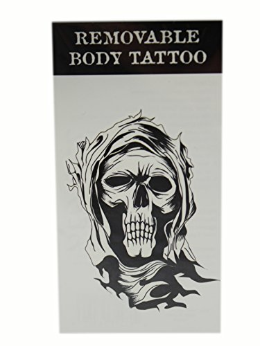 Grim Reaper Temporary Body Tattoo by Ganz - Grim Reaper Makeup