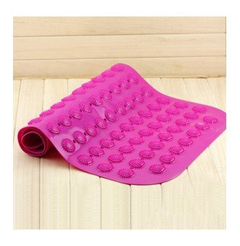 M&CDot bath mat PVC mat sucker toilet bathroom shower massage mat , rose red , 68.537cm