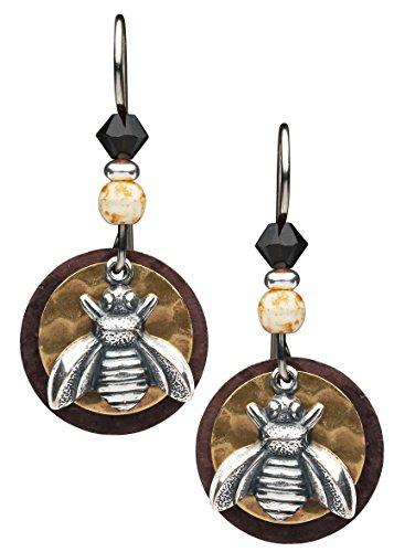 Earth Dreams-Silver Bee Earrings