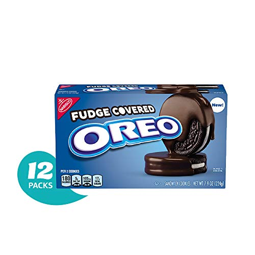 OREO Chocolate Fudge Covered Cookies, 12 7.9oz. Packages