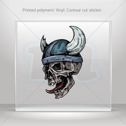Decal Sticker Monster Skull car helmet window Boat jet-ski Garage door 6 X 3.7 Inches Vinyl color print 0600 KR9X3