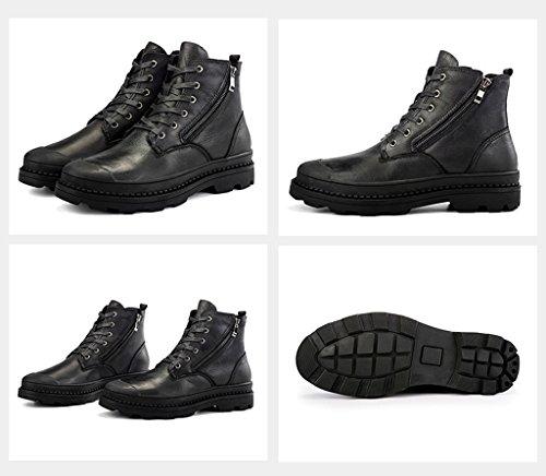 2017 Winter Männer Baumwolle Stiefel High Top Martin Stiefel Plus Plüsch Schnee Stiefel 37-44 Black
