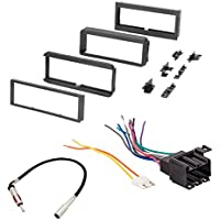 CAR STEREO RADIO CD PLAYER RECEIVER INSTALL MOUNTING KIT RADIO ANTENNA BUICK CADILLAC CHEVROLET GMC OLDSMOBILE PONTIAC 1981 1982 1983 1984 1985 1986 1987 1988 1989 1990 1991