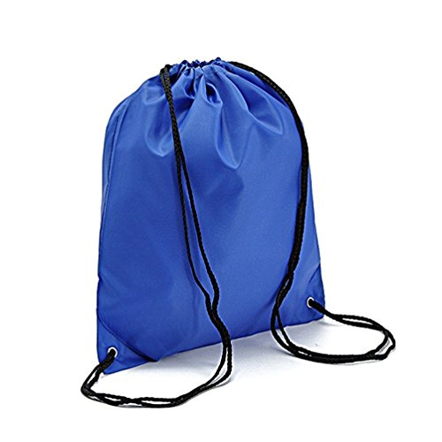 Bonaweite Drawstring Bag Nylon Athletic Travel Home Storage Tote Cinch Sack Pouch Navy (Leisure Suits For Sale)