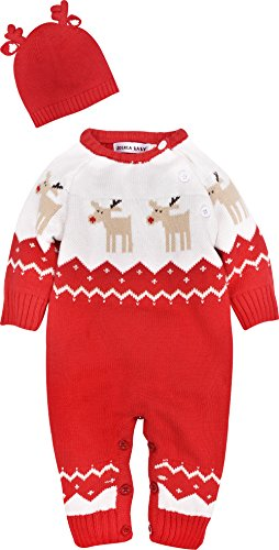 b8a13c4bc ZOEREA Baby Infant Romper Sweater Christmas Knitted Clothes ...
