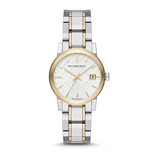 Burberry Silver Dial Two-tone Silver and Gold-tone Bracelet Ladies Watch - Shop Online Burberry