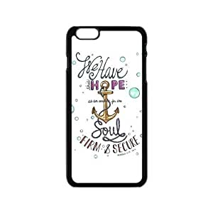 Hot phonecase, Bible Verse - We Have This Hope As an Anchor for the Soul Hebrew 6:19 Theme for black plastic iphone 6 case (4.7 inch) by icecream design