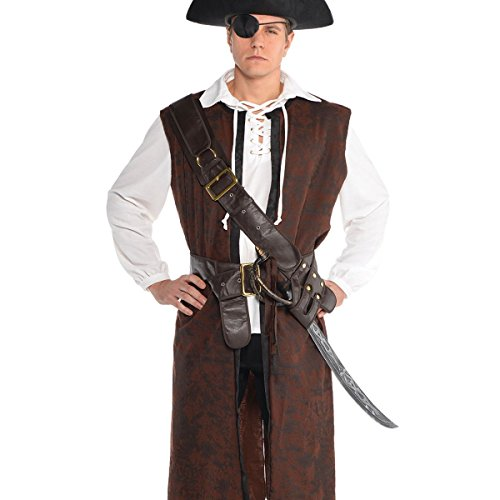 AMSCAN Pirate Bandolier Belt Halloween Costume Accessory for Adults, One Size -