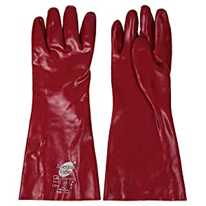 American Safety Pvc Dipped Gauntlet - Red