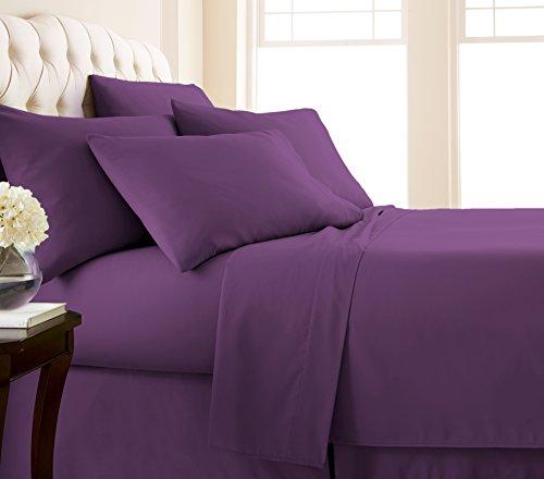Southshore Essentials - 6 Piece Brushed Microfiber Sheet Set, Purple, King