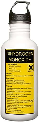 CafePress - Dihydrogen Monoxide Stainless Water Bottle 1.0l - Stainless Steel Water Bottle, 1.0L Sports Bottle