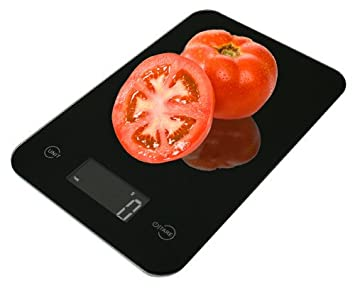 American Weigh Scales ONYX-5K Báscula electrónica de cocina Negro - Báscula de cocina (Báscula electrónica de cocina, 5 kg, 1 g, Negro, Vidrio, De plástico, ...