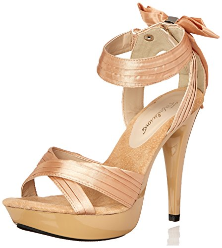Fabulicious Cocktail-568 Champagne Satin / Champagne Taille Uk 8 Eu 41