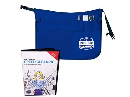 BEST VALUE! The Original Speed Cleaning Logo Apron with the Apron Tool Kit and Speed Cleaning DVD