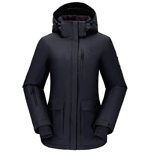 CAMEL CROWN Womens Waterproof Ski Jacket Snow Winter Coat with Hooded for Rain Outdoors Hiking Mountain