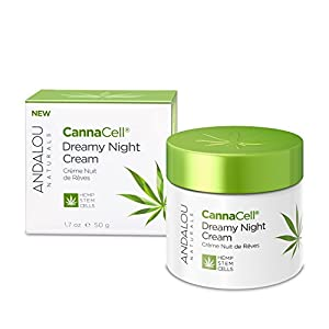 Andalou Naturals CannaCell Dreamy Night Cream, 1.7 Ounces