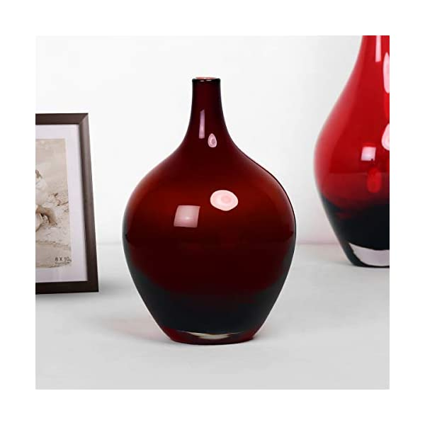 Eadric Red Ombre Red Flower Vase - Home Centre Home Decor