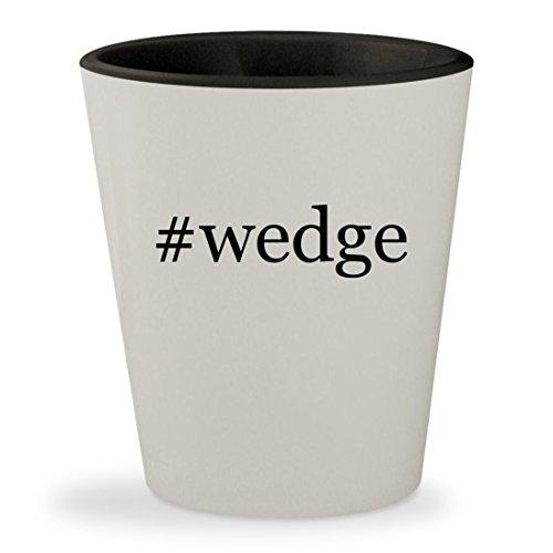 Stuart Weitzman Black Croc (#wedge - Hashtag White Outer & Black Inner Ceramic 1.5oz Shot Glass)