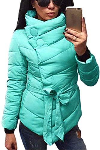 Thicken Winter Ladies Jacket Elegant Jacket Coat Mode Warm Coat Lightgreen Casual Outwear Adelina Short Down Slim Fit Jacket Quilted 7qE4dMwP