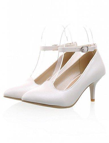 bleu talons similicuir Chaussures Travail bureau 5 us8 gros Uk6 Eu39 Habillé 5 talons Femme Blanc Rose White Ggx Talon Décontracté Cn40 amp; 7wd600qx
