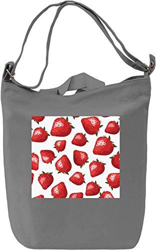 Strawberries Pattern Borsa Giornaliera Canvas Canvas Day Bag| 100% Premium Cotton Canvas| DTG Printing|