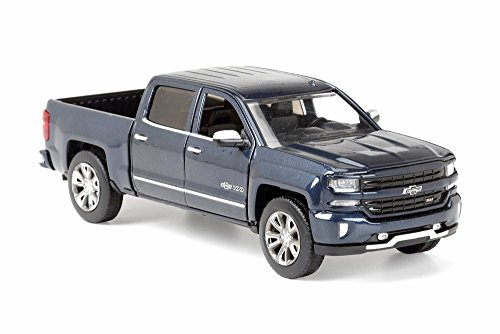 - Motor Max 2018 Chevy Silverado Pick-Up Truck (Centennial Edition), Steel Blue 79353BU - 1/27 Scale Diecast Model Toy Car