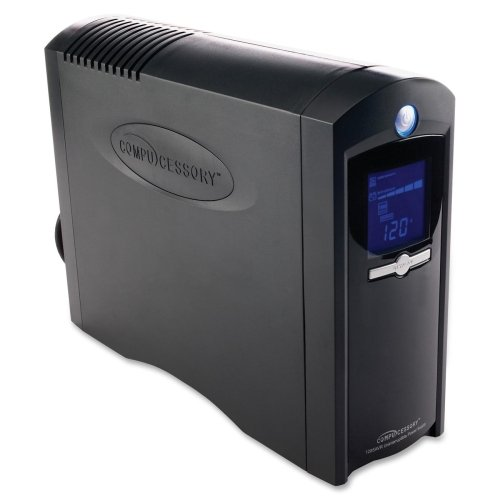 Compucessory Ups Power System,750 Watts,8 Outlets,6'Cord,4''X14''X10'',Bk