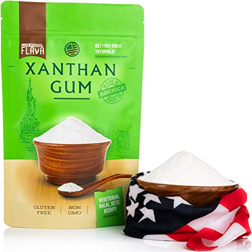 Made in USA Xanthan Gum (8 oz), Premium Quality, Food Grade Thickener, Non GMO, Gluten Free, Use in Cooking, Baking, Sauces, Soups and more. Suitable for Vegetarian, Kosher & Halal. Use for Keto Diet 8