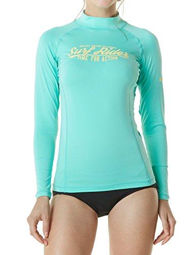 Tesla TM-FSR20-MMT_Medium Women's UPF 50+ Slim-Fit Long Sleeve Athletic Rashguard ()