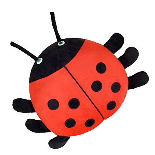 KEELAA Cute Ladybug Plush Toy Pillow Stuffed Animal Soft Toy (16.5 in, Red)