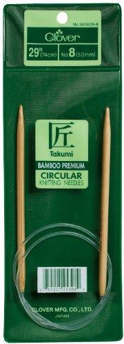 - Clover Takumi Bamboo Circular 29-Inch Knitting Needles, Size 11
