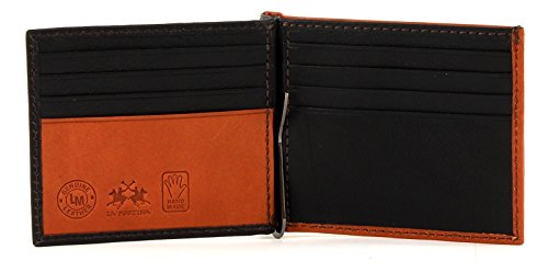 LA MARTINA Almagro Dollar Wallet with Flap Black