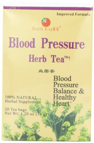Tea Herb Blood Pressure (Health King Blood Pressure Herb Tea, Teabags, 20-Count Box by Health King)