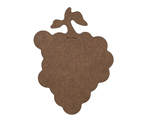Epicurean Cutting Surfaces Novelty Series Cutting Board, Grapes, Nutmeg
