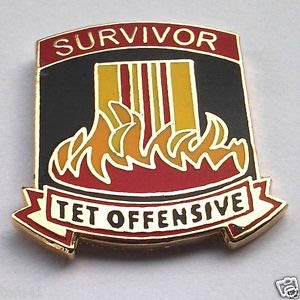 Pin for Backpacks Survivor TET Offensive Military Veteran Vietnam Hat Pin - Accessories for Clothes