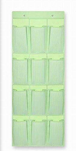 12 Taschen über die Tür Schuh-Organisatoren-hängenden Beutel, Streifengrün