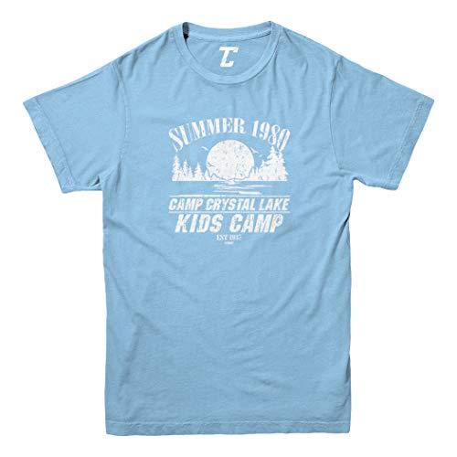 Camp Crystal Lake Kids Camp - Parody Youth T-Shirt (Light Blue, X-Small)