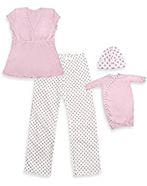 i play Mommy & Me Gift Set (Women's Small/Medium, Pink)