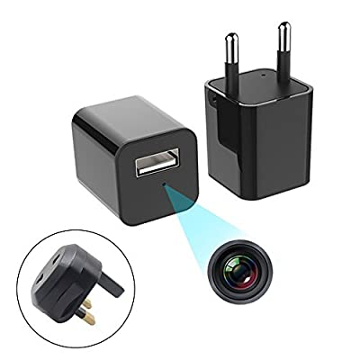 Charger Wireless Hidden Spy Camera, HD 1080P Smart Mini Spy Charger With Motion Detection and Loop Recording Home Security Camera Nanny Cam Wifi 16GB Storage by Carole4