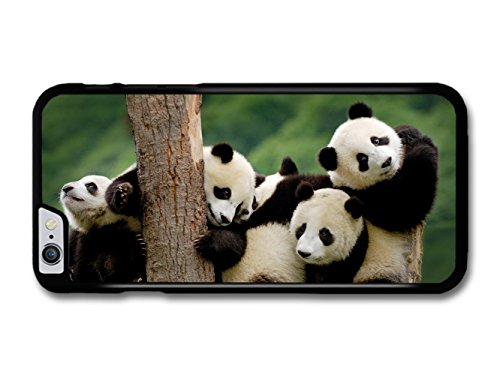 Adorable Cute Panda Bears Hugging On A Tree coque pour iPhone 6 Plus 6S Plus