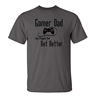 Mashed Clothing Gamer Dad - Like A Regular Dad But Better Adult T-Shirt (Charcoal, Medium)