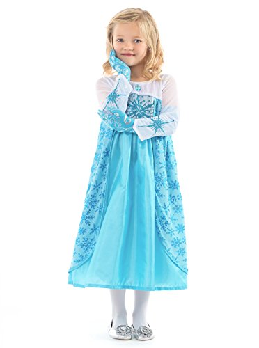 Ice Princess Halloween Costumes (Little Adventures Ice Princess Dress Up Costume for Girls - Medium (3-5 Yrs))