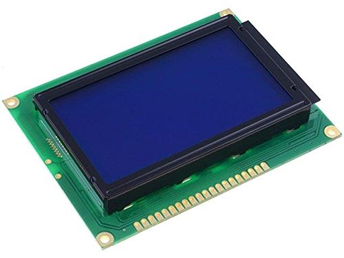 RG12864K-BIW-VBG Display LCD graphical STN Negative 128x64 blue LED RAYSTAR OPTRONICS