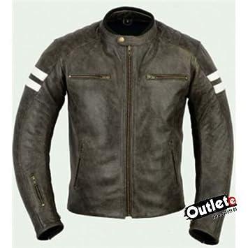 Bpqr4wez Marron Piel Coche Bstar Cuero Moto Nevada Chaqueta Y Es Amazon 1FFgRxwvq