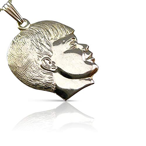 Milano Jewelers 14KT Yellow Gold Handcrafted Happy Baby BOY Floating Charm Pendant #24272 ()