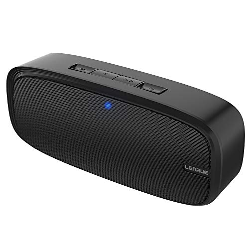LENRUE Bluetooth Speaker with Loud Stereo Sound, Rich Bass, 12-Hour Playtime, Built-in Mic. Perfect Portable Wireless Speaker for iPhone, Samsung and More