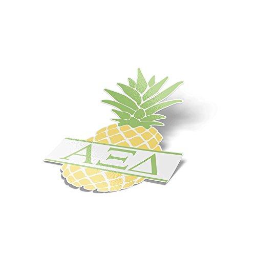 (Desert Cactus Alpha Xi Delta Pineapple Letter Sticker 4 Inch Tall Sorority Decal Greek for Window Laptop Computer Car Alpha zee)